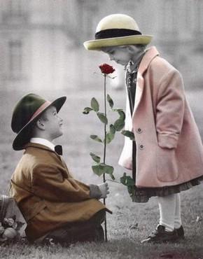 Copii Frumosi - Cadou - Trandafir