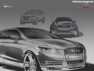 Audi Q7 drawing