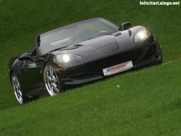 Black Corvette front