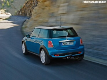 Mini Cooper blue