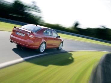 Skoda Octavia RS red