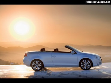 VW Eos side sun