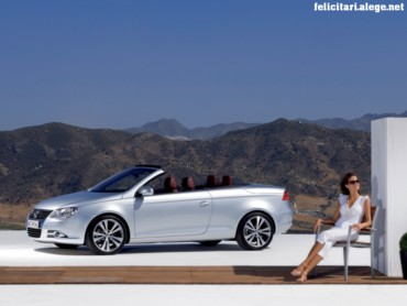 VW Eos with woman