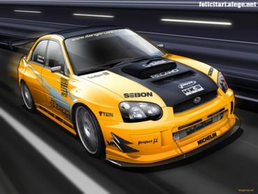 Yellow Subaru WRX