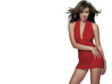 Thalia in red