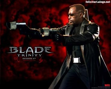 Blade with guns
