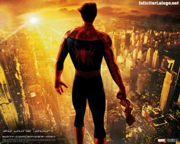 Spiderman looking