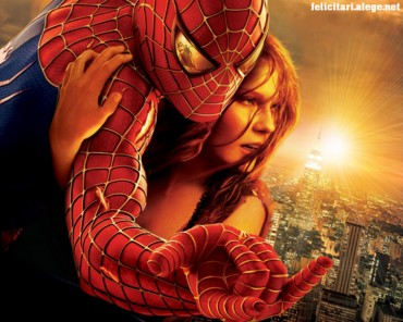 Spiderman with girl