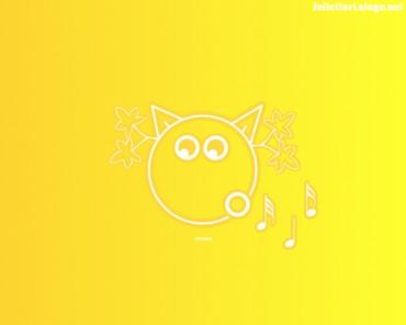 Spring yellow cat