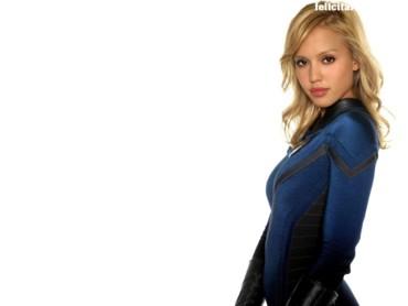 Jessica Alba blue