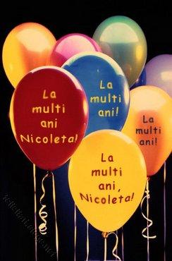 La Multi Ani Nicoleta!