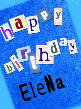 Happy Birthday Elena