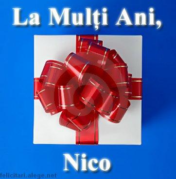 La Multi Ani Nico