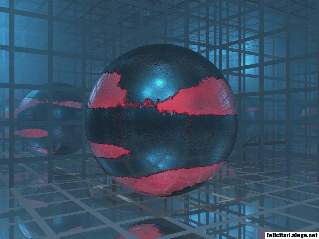 3d Ball On Glass Room