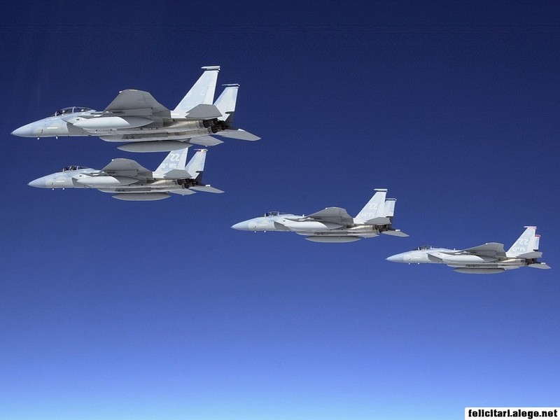 F15 Eagle Formation Flight