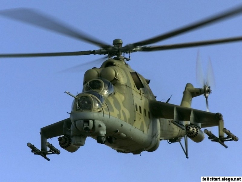Mi24 Hind Military Aviation Helicopter