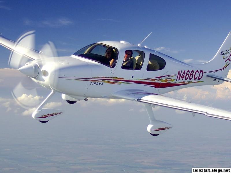 Training Plane In Flight