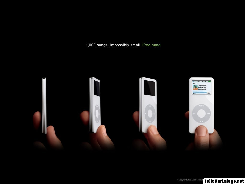 White Ipods Nano On Hand
