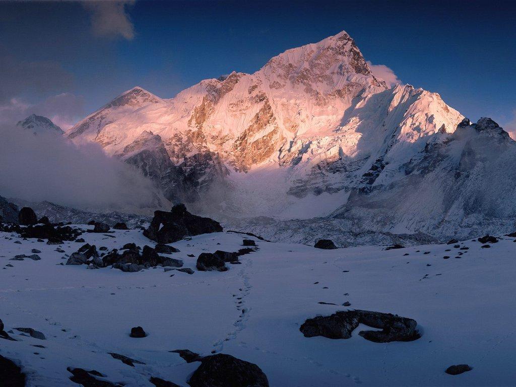 Mount Nuptse Himalaya Mountains Nepal