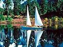 Mount Shuksan Reflecting In The Calm Waters Washington