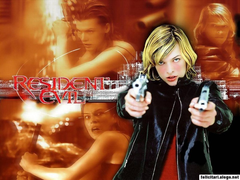 Free Wallpapers Resident Evil 2002 Milla Jovovich Michelle