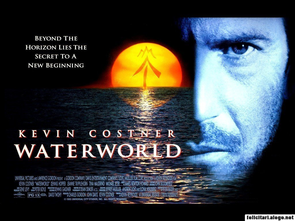 Waterworld 1995 Kevin Costner Jeanne Tripplehorn