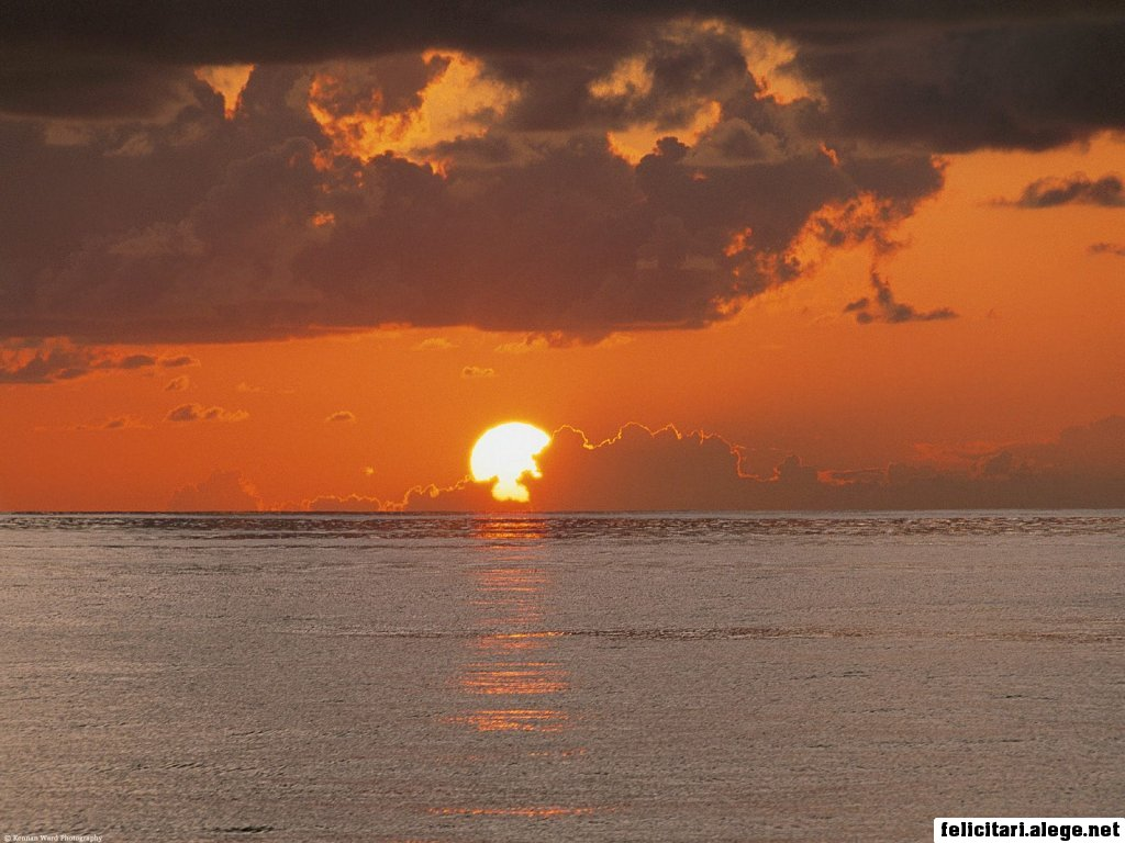 Sunset On The Equator Central America