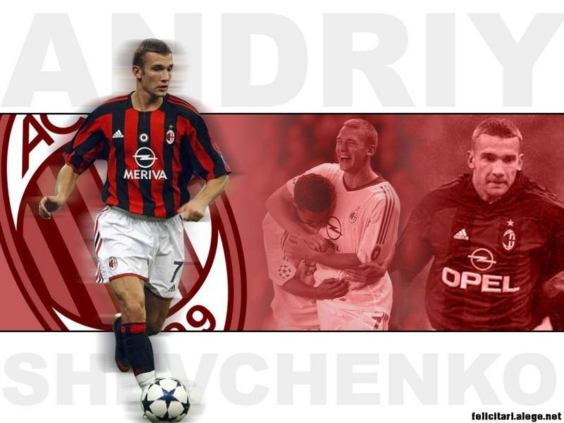 Andriy Shevchenko Ac Milan Ukraine Football Soccer