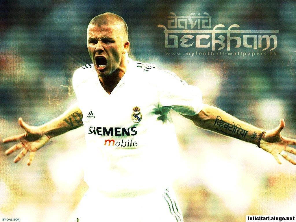 David Beckham Real Madrid Cf England Football Soccer
