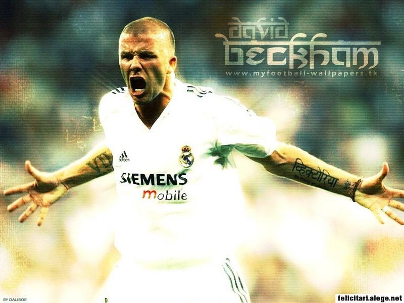 David Beckham Real Madrid Cf England Football Soccer