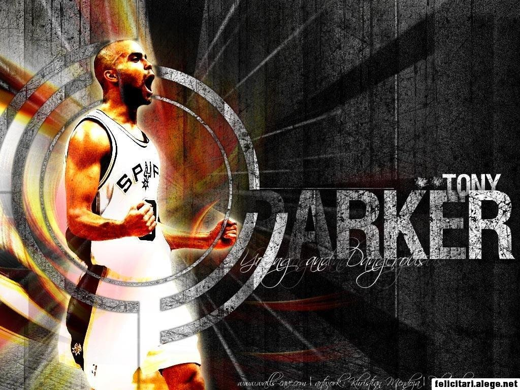 Tony Parker Point Guard San Antonio Spurs Basketball Player Of The Nba