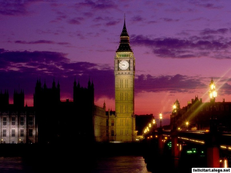 Big Ben At Dusk London England
