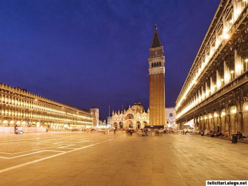 Piazza San Marco At Night Venice Italy